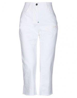 Джинсовые брюки-капри WHITE SAND 88. Цвет: белый