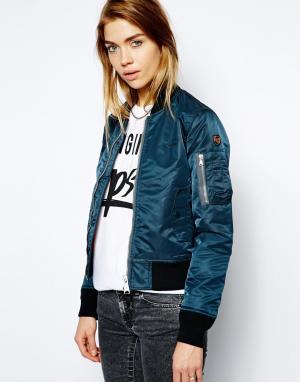 Куртка-пилот NYC AC Schott. Цвет: синий