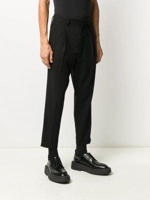 Укороченные брюки строгого кроя Ann Demeulemeester. Цвет: черный