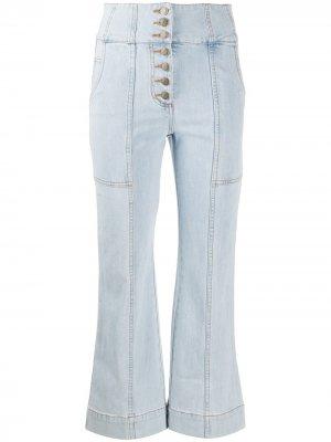 Укороченные джинсы прямого кроя Ulla Johnson. Цвет: синий