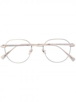 Солнцезащитные очки Water Drop SS в круглой оправе EQUE.M. Цвет: серебристый