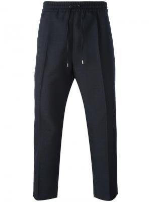 Классические брюки на резинке Gucci. Цвет: серый