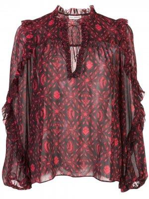 Блузка с принтом Ulla Johnson. Цвет: розовый