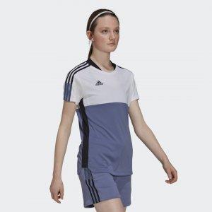 Футболка Tiro Sportswear adidas. Цвет: синий