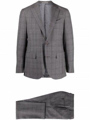Костюм с однобортным пиджаком Corneliani. Цвет: серый