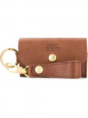 Ключница с брелком As2ov. Цвет: коричневый