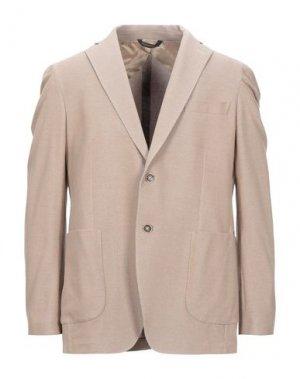 Пиджак ENRICO COVERI. Цвет: светло-коричневый