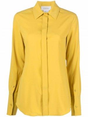 Рубашка с длинными рукавами Max Mara. Цвет: желтый