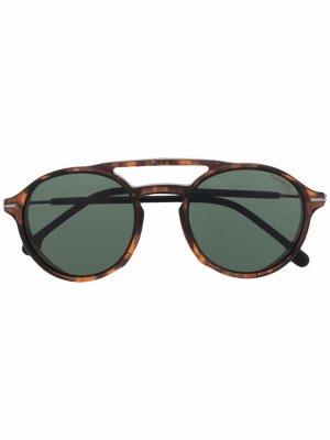 Солнцезащитные очки-авиаторы в круглой оправе Carrera. Цвет: черный