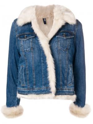 Джинсовая куртка с овчиной Liu Jo. Цвет: синий