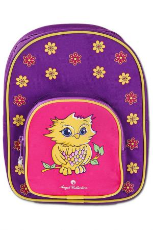 Рюкзак Совушка 20x6,5x25,5 см ANGEL COLLECTION. Цвет: фиолетовый