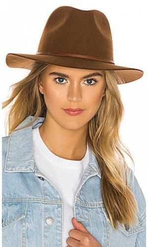 Шляпа федора wesley Brixton. Цвет: коричневый