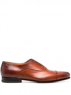 Туфли оксфорды Santoni. Цвет: коричневый