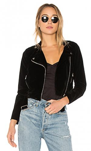 Malaya velvet moto jacket superdown. Цвет: black