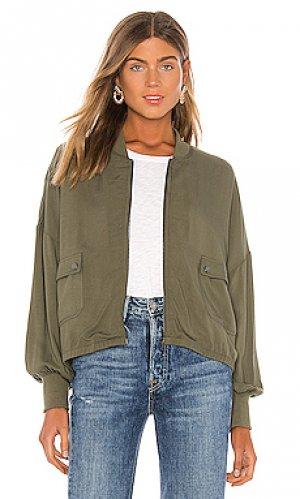 Куртка бомбер flight club BB Dakota. Цвет: оливковый