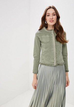 Куртка джинсовая Softy. Цвет: зеленый