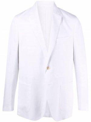 Пиджак строгого кроя Malo. Цвет: белый