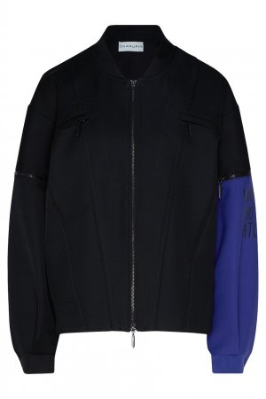 Куртка-бомбер с яркой вставкой Chapurin. Цвет: multicolor
