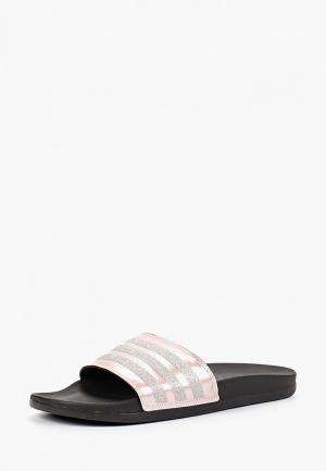 Сланцы adidas ADILETTE COMFORT. Цвет: розовый