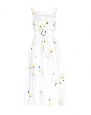 Длинное платье CACHAREL. Цвет: слоновая кость