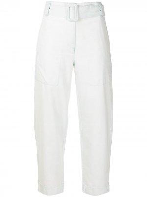 Укороченные джинсы с поясом Proenza Schouler White Label. Цвет: синий