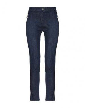 Джинсовые брюки CRISTINAEFFE. Цвет: синий