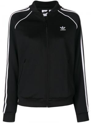 Спортивная куртка Superstar adidas. Цвет: черный