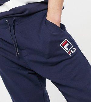Темно-синие джоггеры с прямоугольным логотипом Fila