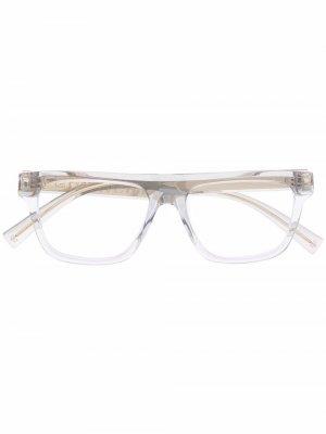 Очки в прозрачной оправе Givenchy Eyewear. Цвет: серый