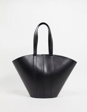 Черная большая сумка-тоут -Черный ASOS DESIGN