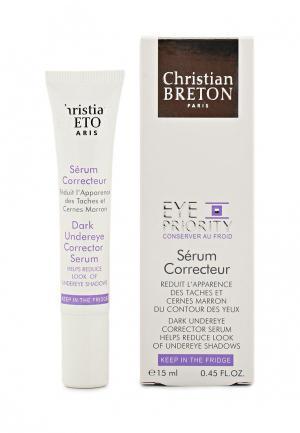 Сыворотка для кожи вокруг глаз Christian Breton Paris корректирующая, 15 мл. Цвет: белый