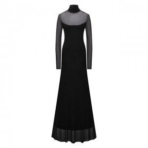 Платье из вискозы Ralph Lauren. Цвет: чёрный