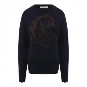 Шерстяной пуловер Chloé. Цвет: синий