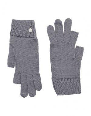 Перчатки RICK OWENS. Цвет: серый