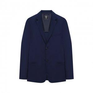 Хлопковый пиджак Dal Lago. Цвет: синий