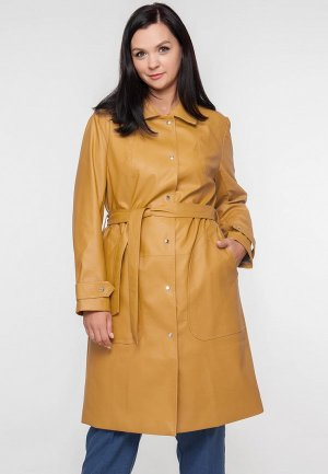 Куртка кожаная Limonti. Цвет: оранжевый
