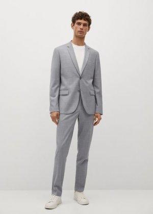Костюмный пиджак super slim-fit в клетку - Paulo Mango. Цвет: серый