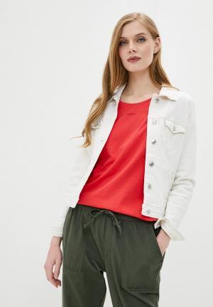 Куртка джинсовая Springfield. Цвет: белый