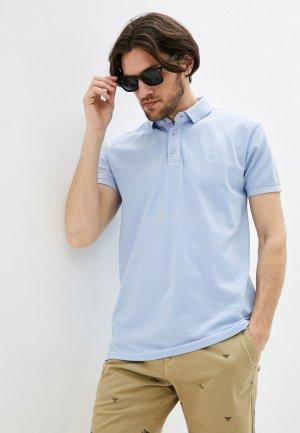 Поло Indicode Jeans. Цвет: голубой