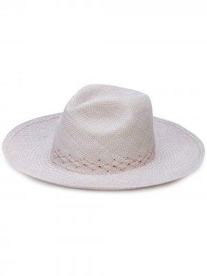 Шляпа с широкими полями THE FREYA BRAND. Цвет: серый