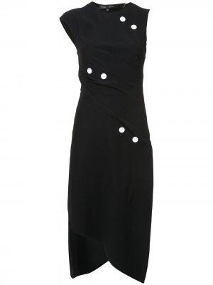 Short Spiral Dress with Button Detail Proenza Schouler. Цвет: черный