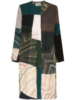 Пальто Tanita со вставками By Walid. Цвет: зеленый