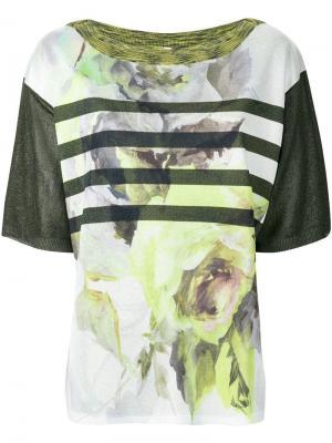 Джемпер с вышивкой Antonio Marras. Цвет: зеленый