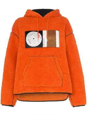 Джемпер x RBN свободного кроя с капюшоном Bjorn Borg. Цвет: оранжевый