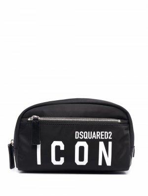 Icon make-up bag Dsquared2. Цвет: черный