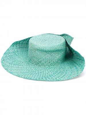 Шляпа с заклепками LANVIN. Цвет: синий