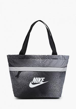 Сумка Nike Y NK TANJUN TOTE - AOP FA21. Цвет: серый