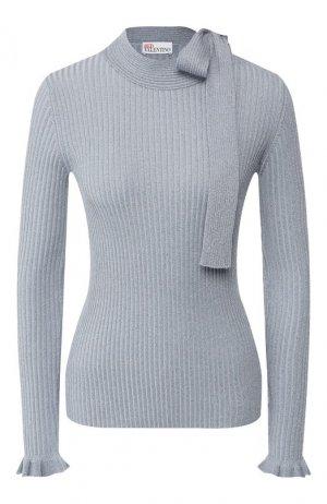 Пуловер из смеси хлопка и вискозы REDVALENTINO. Цвет: голубой