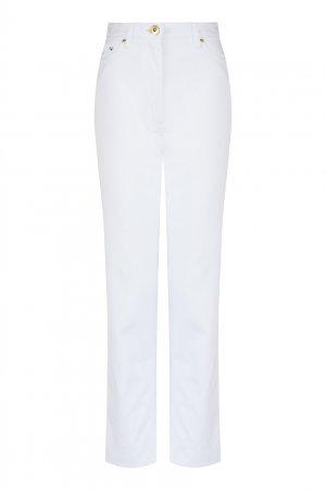 Прямые белые джинсы LAROOM. Цвет: белый