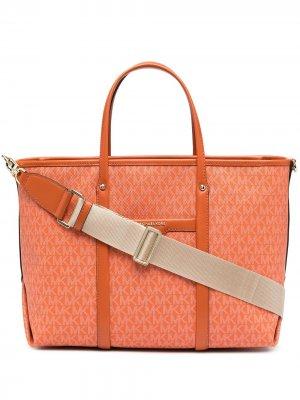 Большая сумка-тоут Beck Michael Kors. Цвет: оранжевый